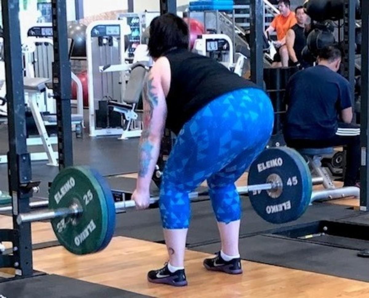 Pulling 185 lbs.