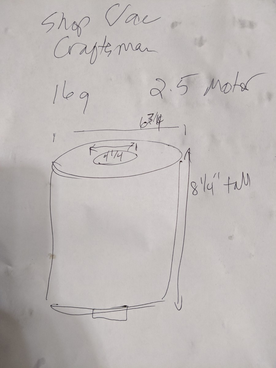 Filter dimensions : 6 3/4 inches wide, 4 1/4  inch inner hole, 8 1/4 inches tall. Paper filter.