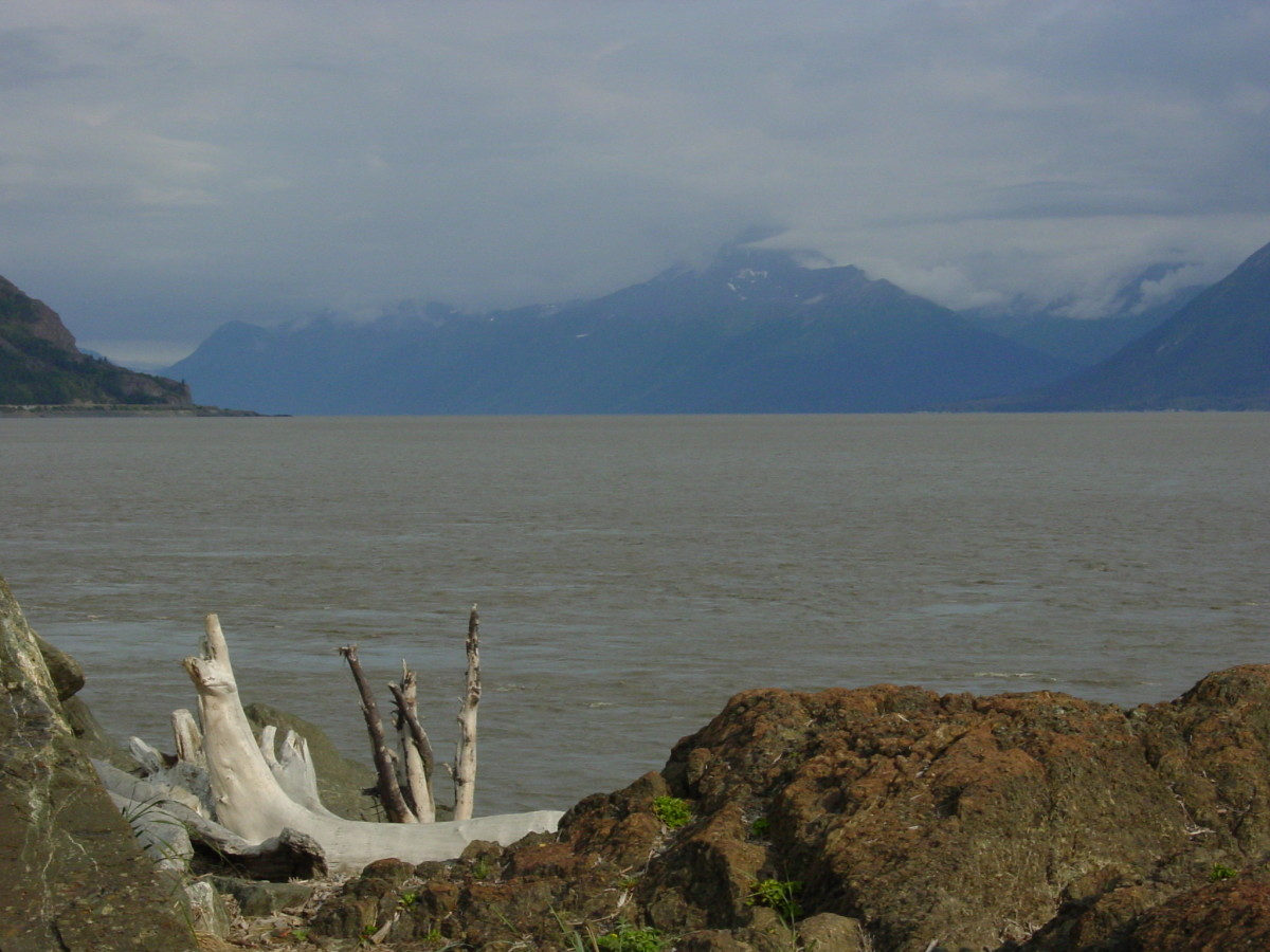 Turnagain Arm along the Seward Highway