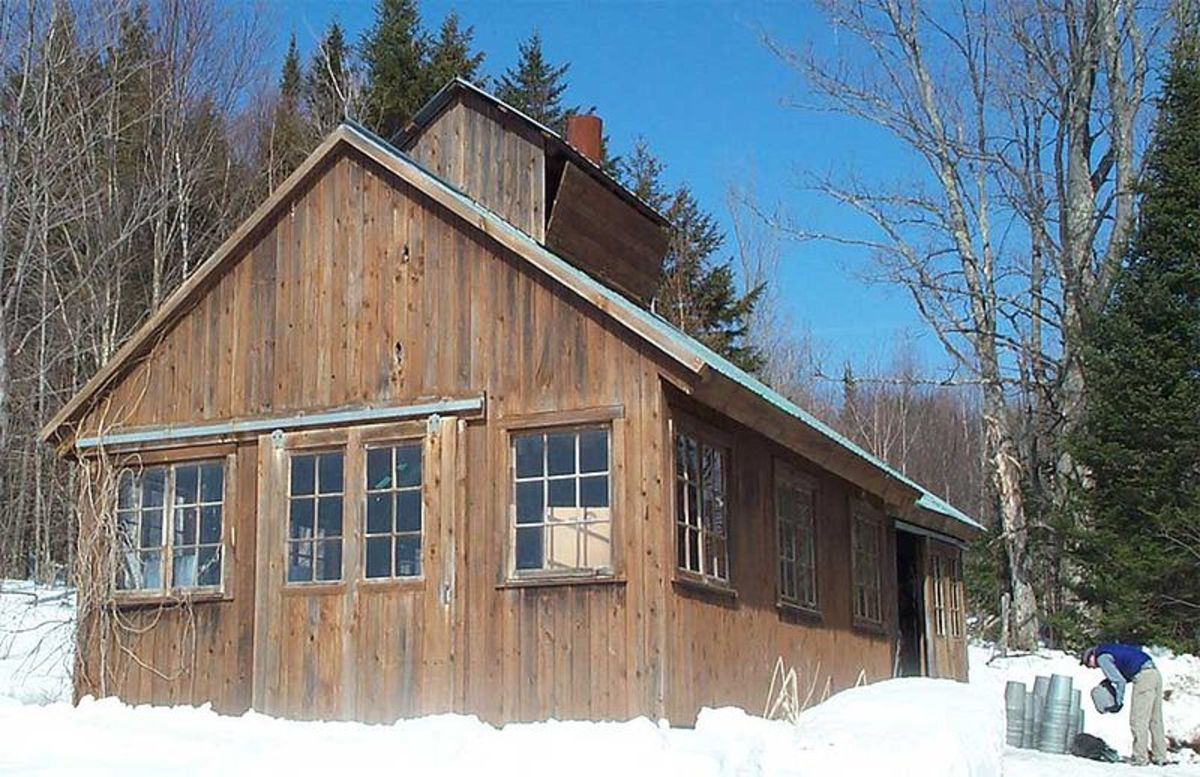 A Maple Sugar House by Jared C. Benedict, Wikimedia Commons