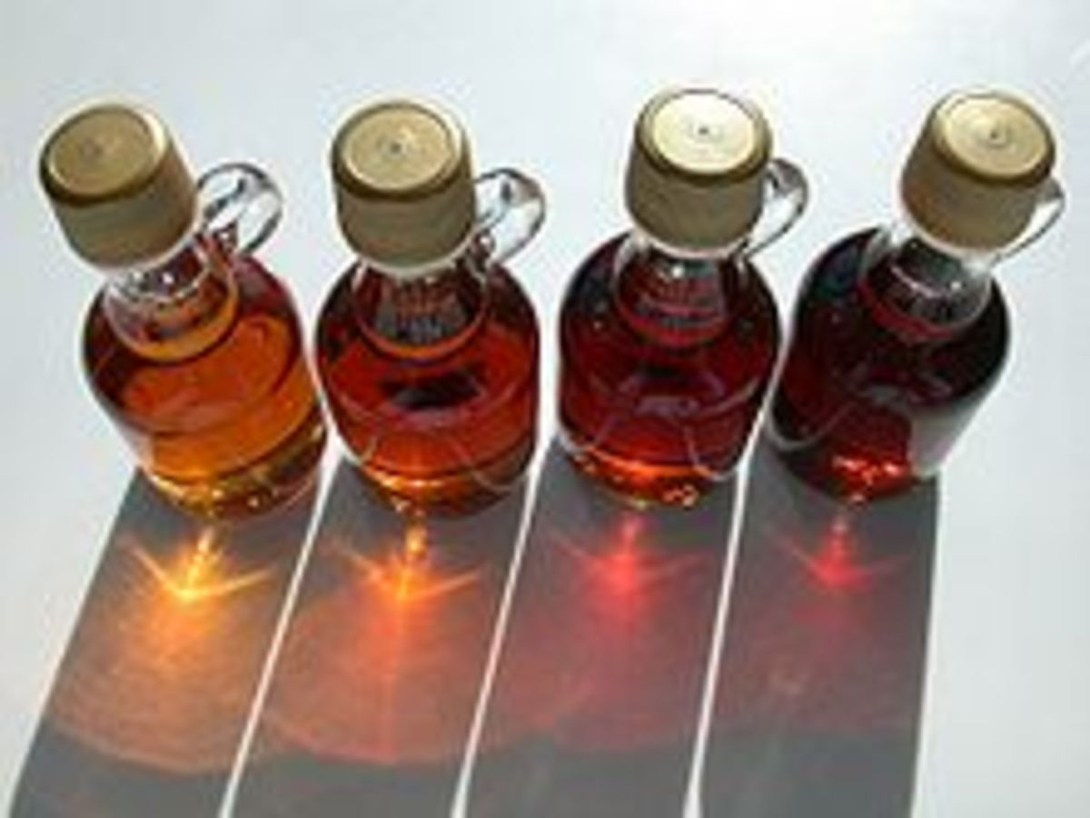 Bottled Maple Syrup by Dvortygirl, Wikimedia Commons