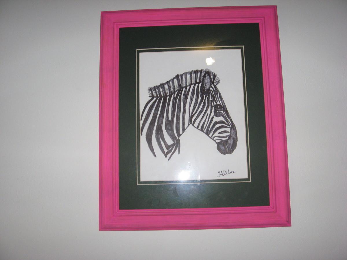 zebra print wallpaper border. His mom bought a zebra print