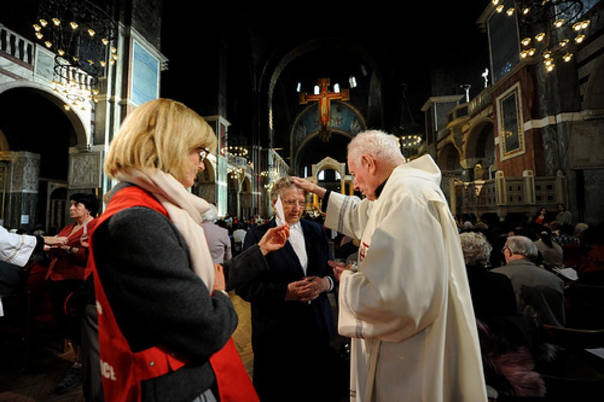 Pope John Paul blessing the faithful