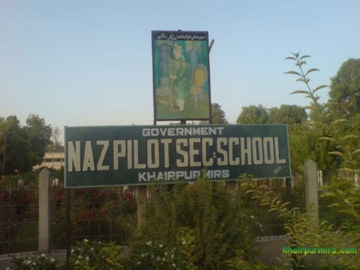 Government Naz Pilot Secondary SCHOOL,its design is like an Aeroplane...founder of this school is Mir Ali NAWAZ tALPUR
