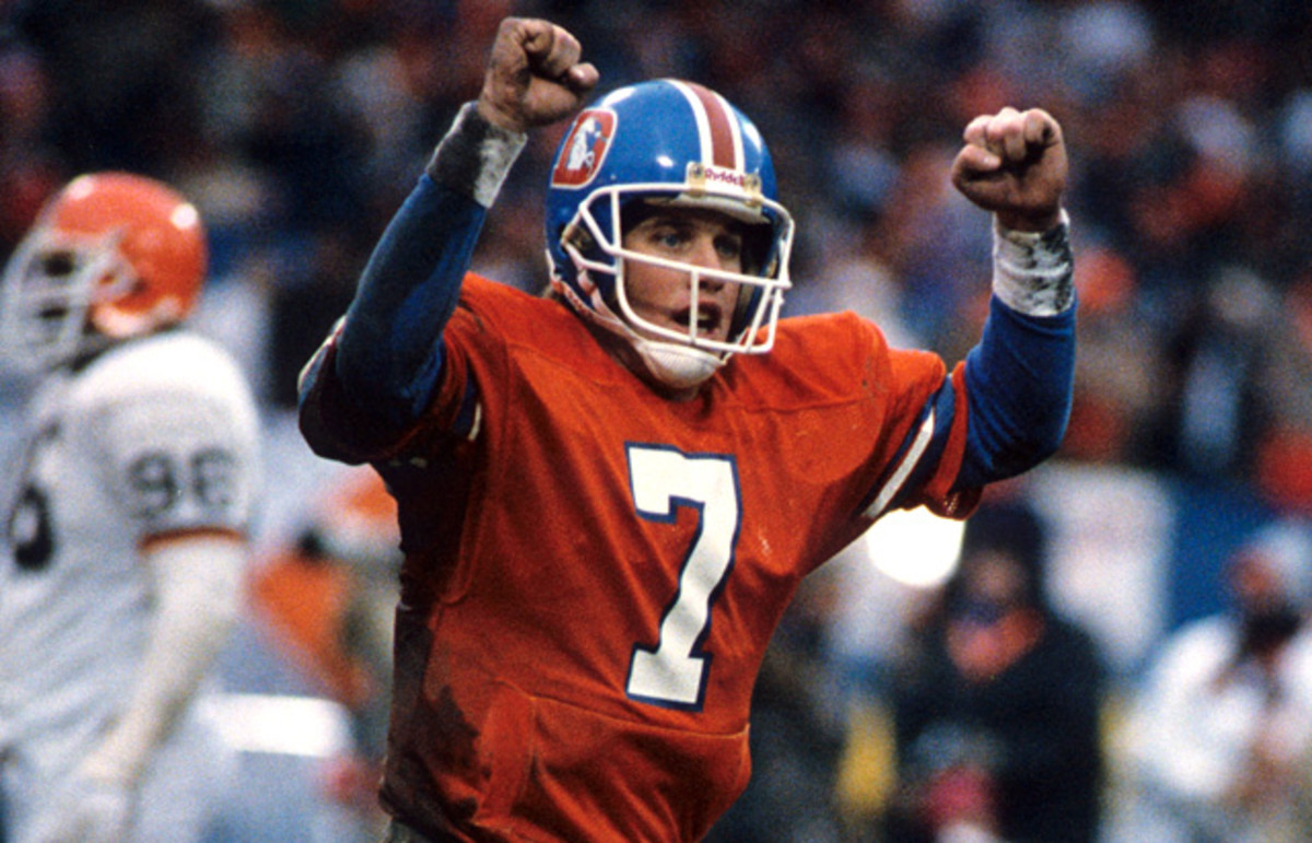 "John Elway NFL ""The Drive""finally put a Super Bowl ring on his finger."
