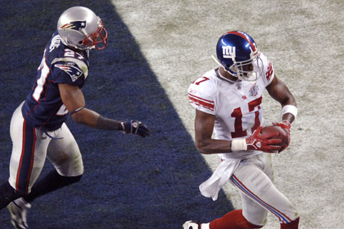 Plaxico Burress's touchdown reception in the waning moments of the Super Bowl was the culmination of a streak of upsets that started with a loss to the Patriots just over a month earlier. Photo: Tom Hood/European Pressphoto Agency