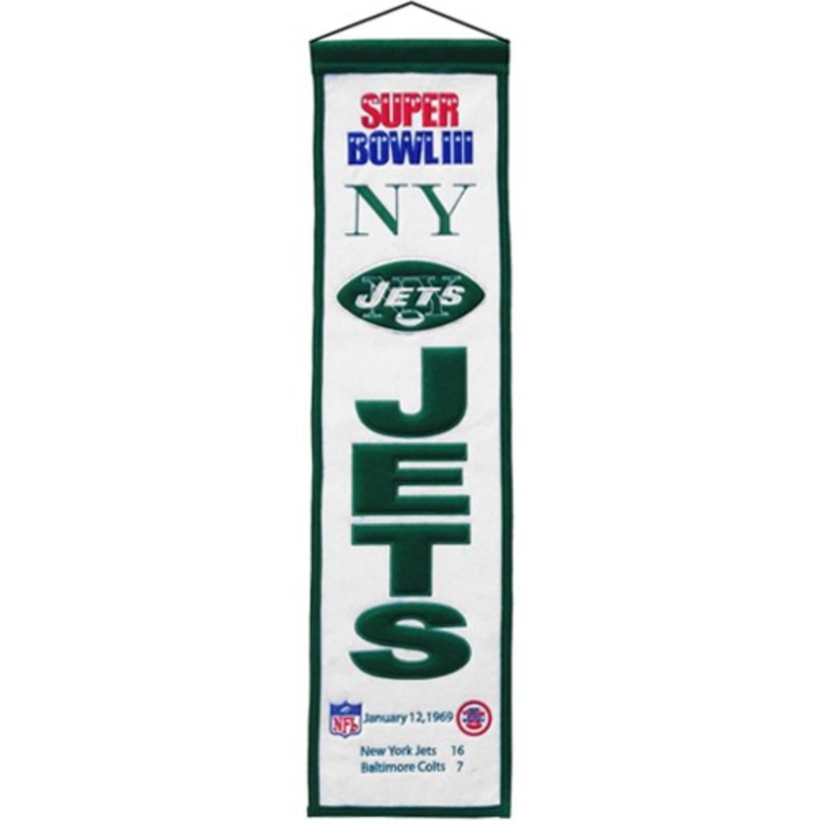 NY Jets 1969 Super Bowl III Winners
