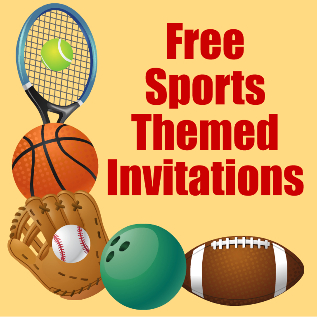 Free printable sports birthday party invitations templates hubpages they can actually be used by any age as long as the guest of honor loves sports filmwisefo Image collections