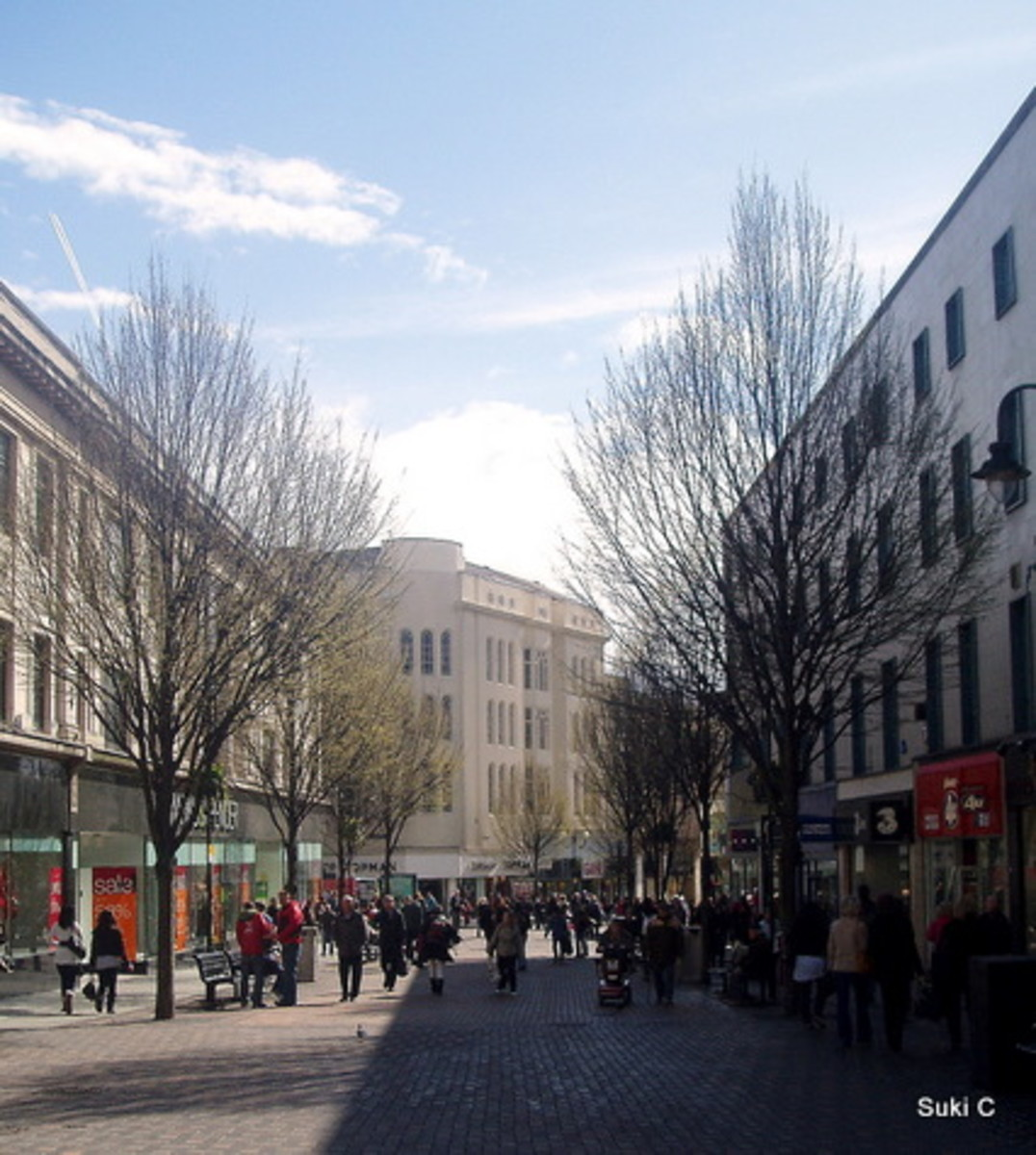Houndsgate - one of Nottingham's main shopping streets