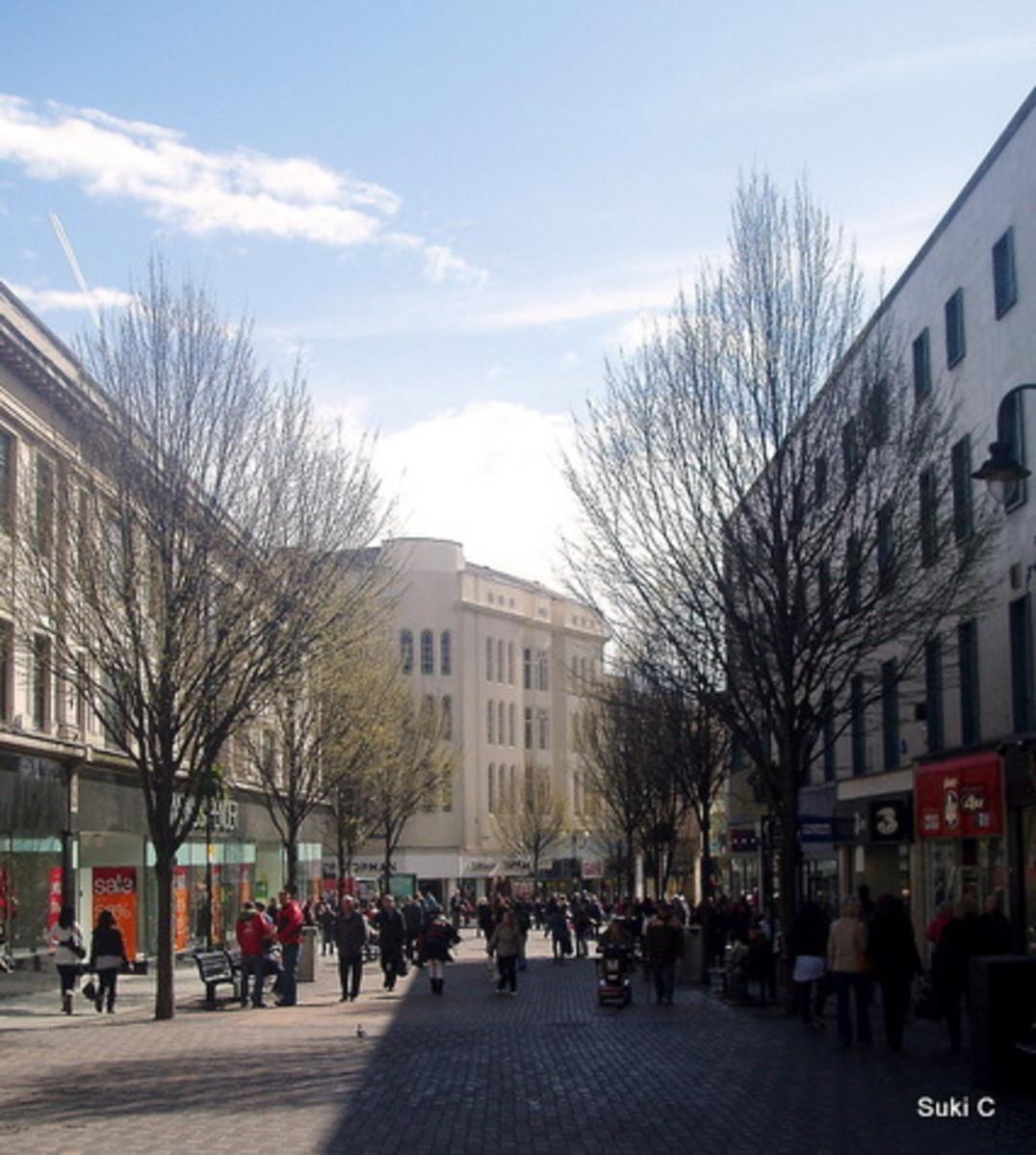 Houndsgate - one of Nottingham's main shopping streets