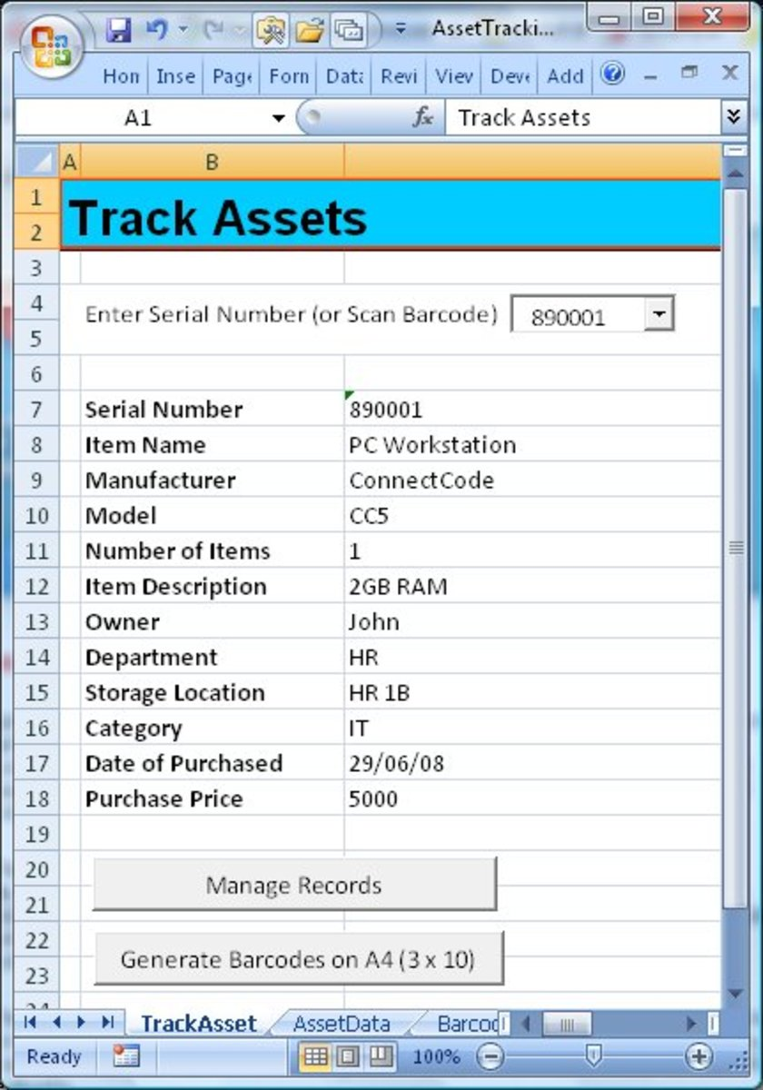 Track your home inventory and assets for your small businesses using this free excel spreadsheet.