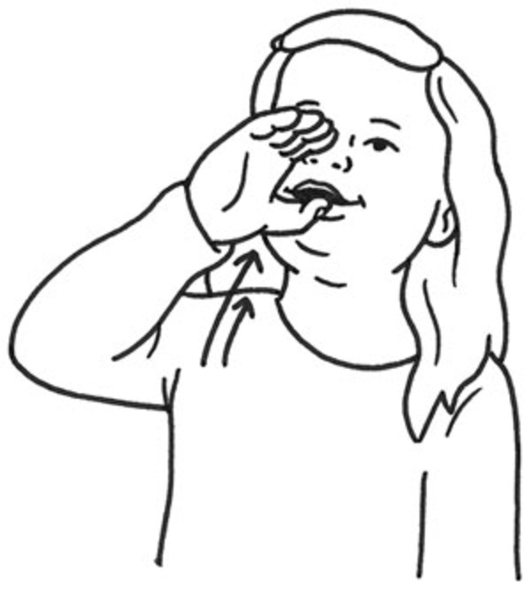Drink in Sign Language: hold your hand in a C curve, pull it up toward your mouth and tip it as if drinking from a glass.