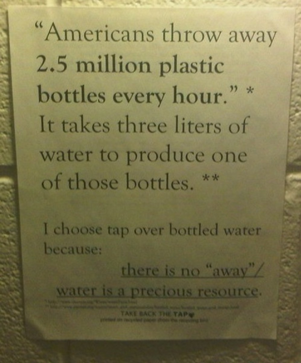 Poster - Americans Throw Away 2.5 million plastic bottles