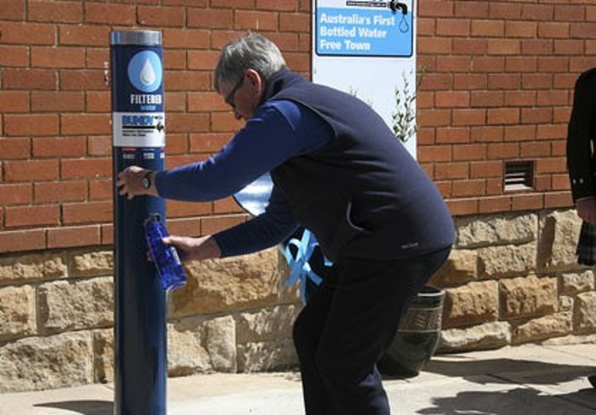 Filler Up Station in Bundanoon, New South Wales, Australia - eliminate bottled water - reuse and save the environment