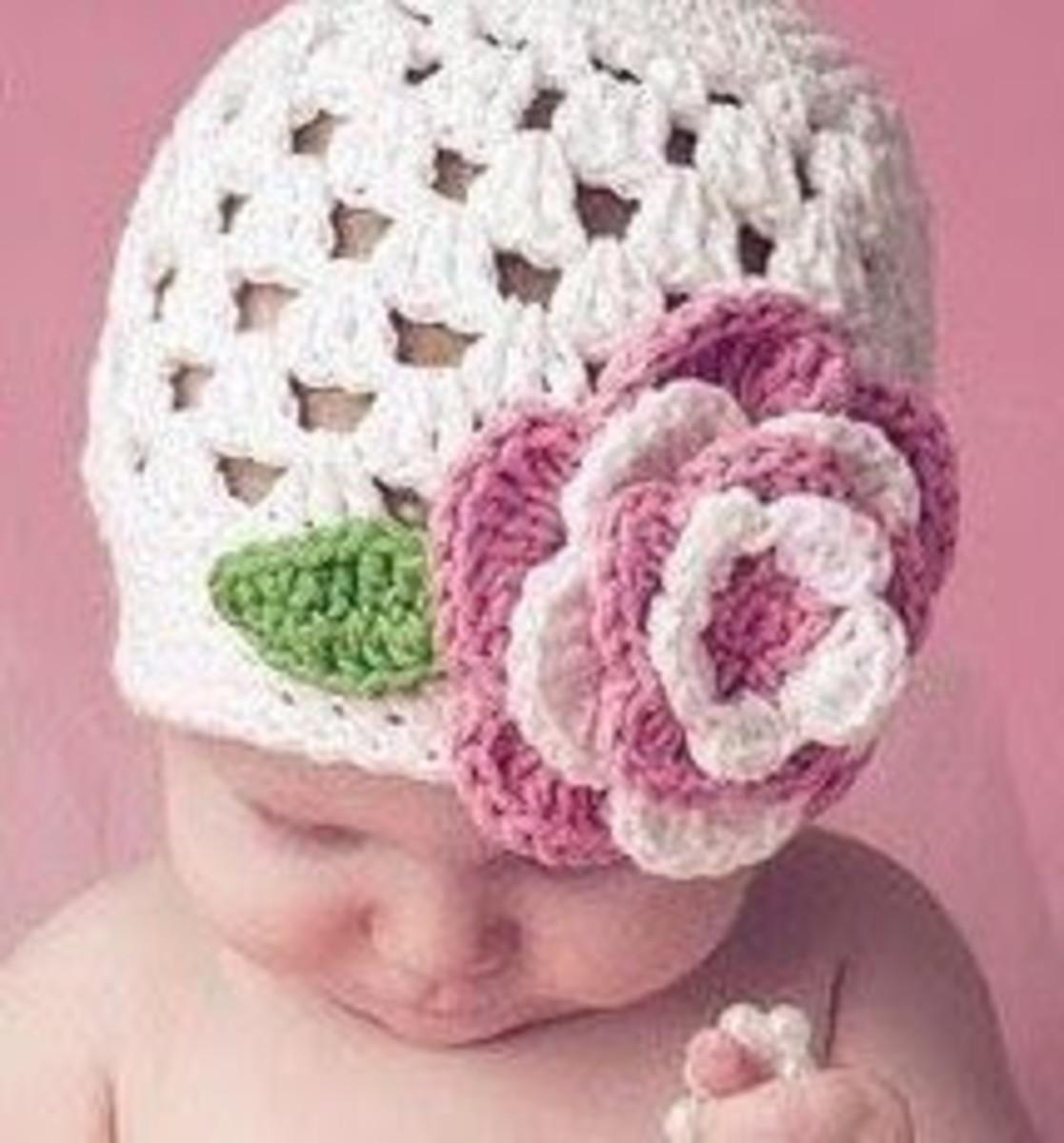 Crochet Cluster Stitch Baby Hat