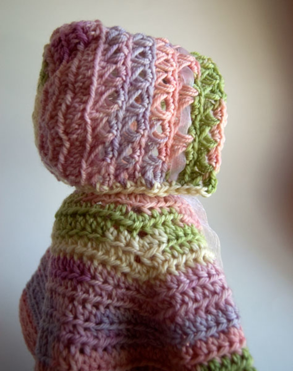 Crochet Baby in Bloom Bonnet