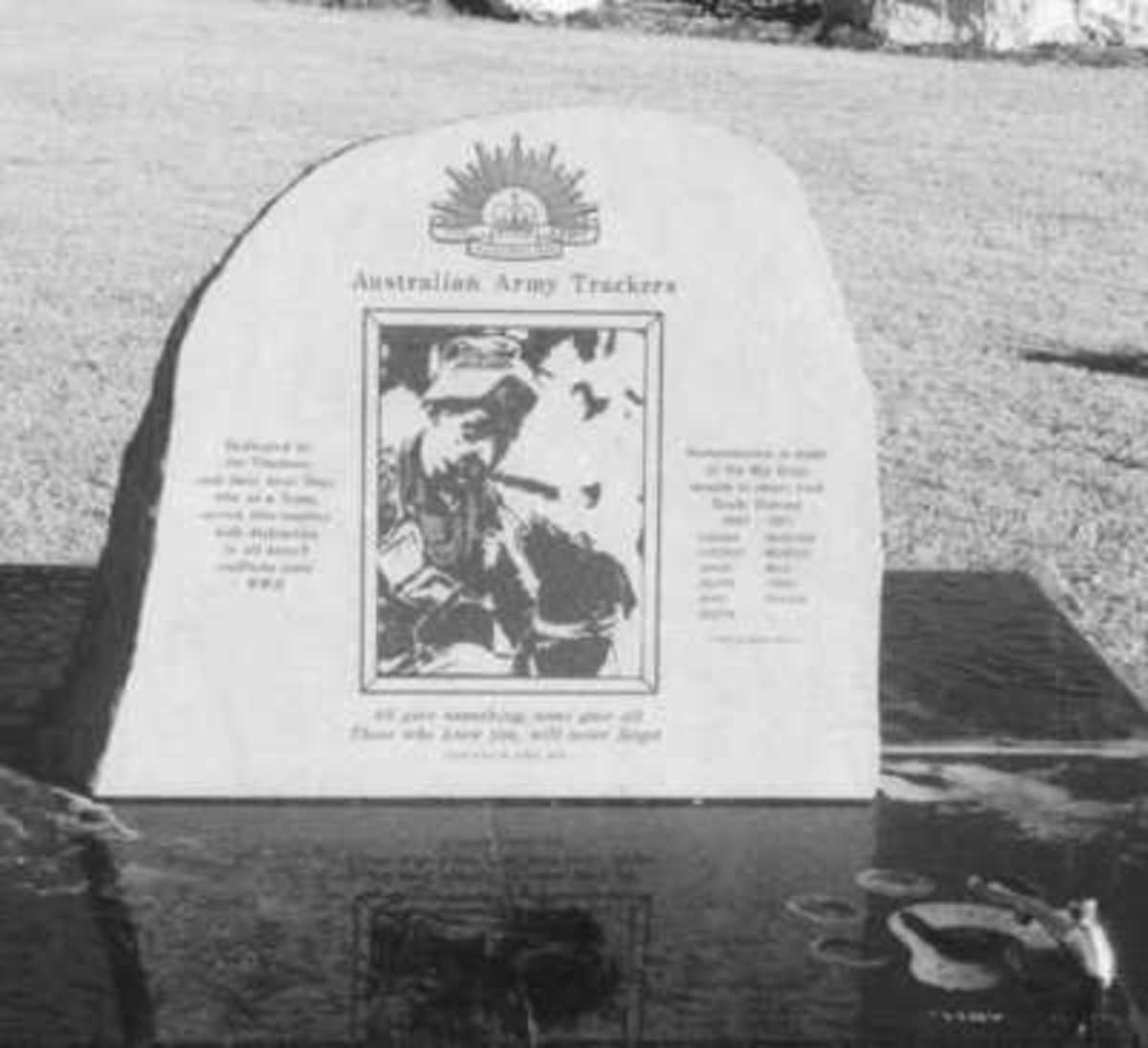 The Australian Army Trackers Memorial, Goolwa, South Australia.