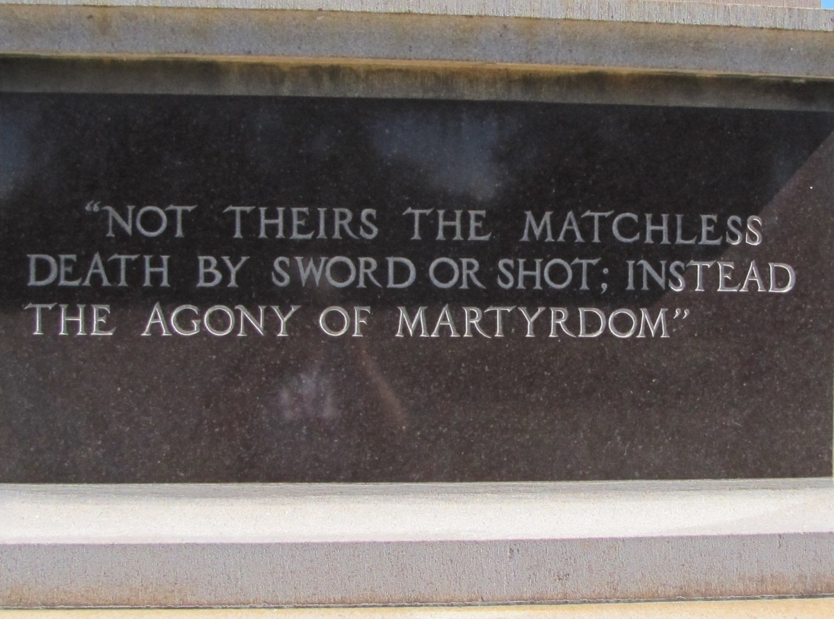 Quotation on the base of a memorial at Andersonville, Georgia.