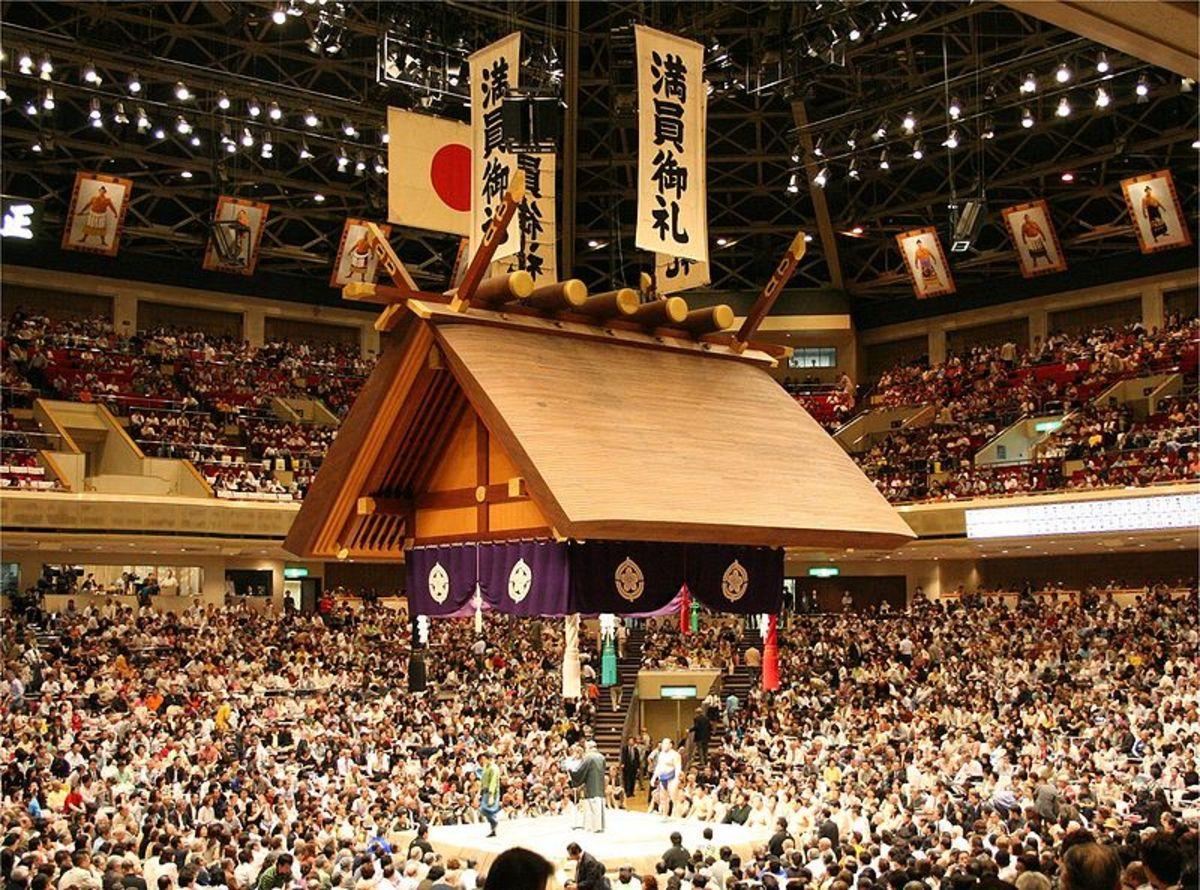Sumo wrestling arena in Tokyo