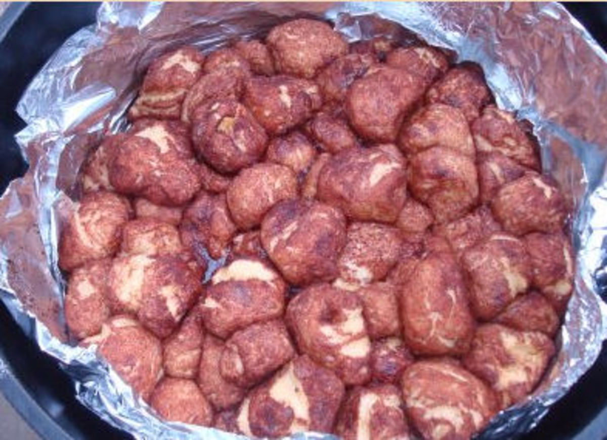 Dutch Oven Monkey Bread Campfire Treat for Kids