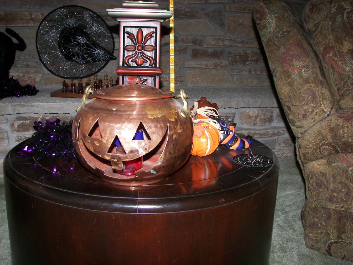 Halloween Decorating Ideas - Copper Jack O'Lantern