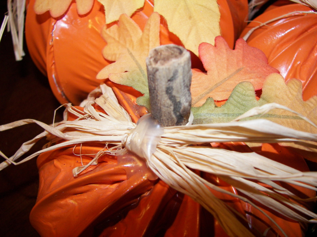 Hand Made Halloween Decoration - Fall Pumpkins Created From Dyer Vent Tubing