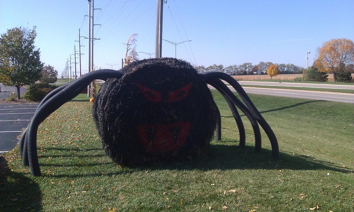 Outdoor Halloween Spider Decoration
