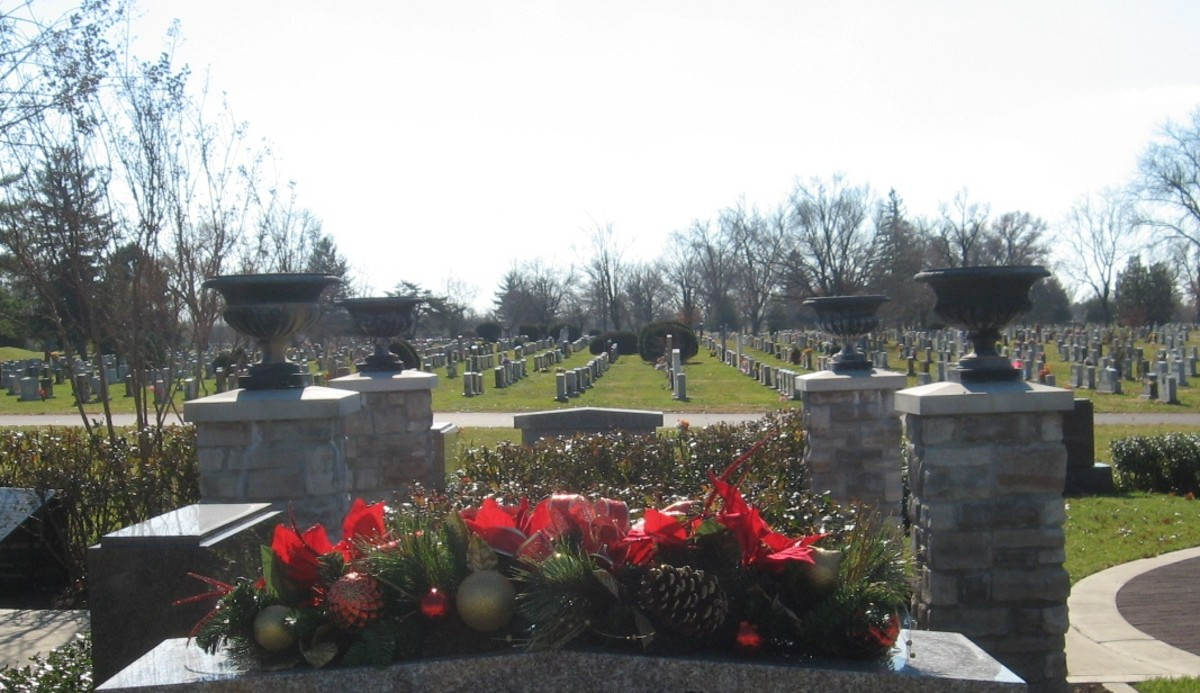 Niches are almost twice as wide as a typical headstone.