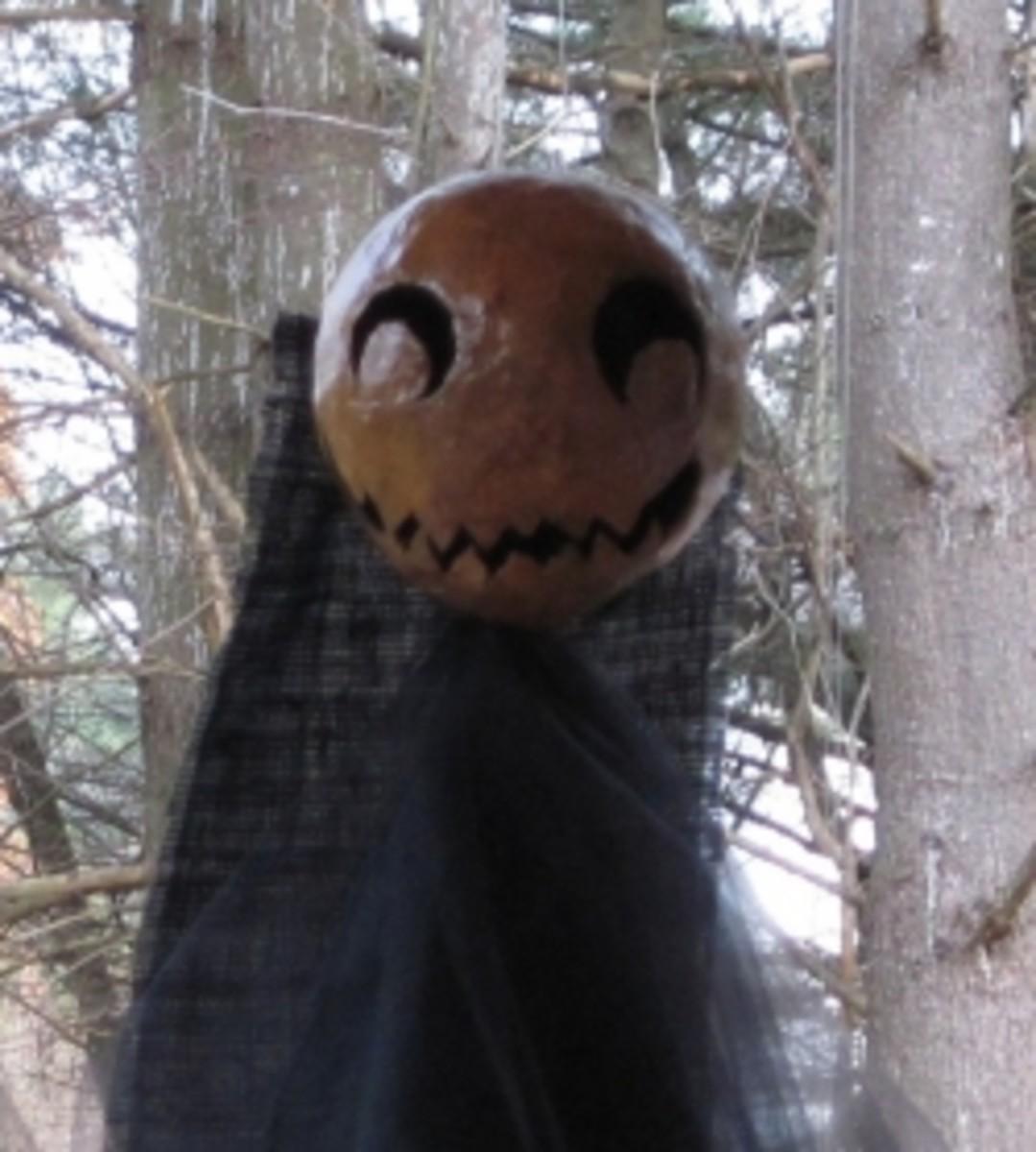 Paper mache spooky Halloween decoration