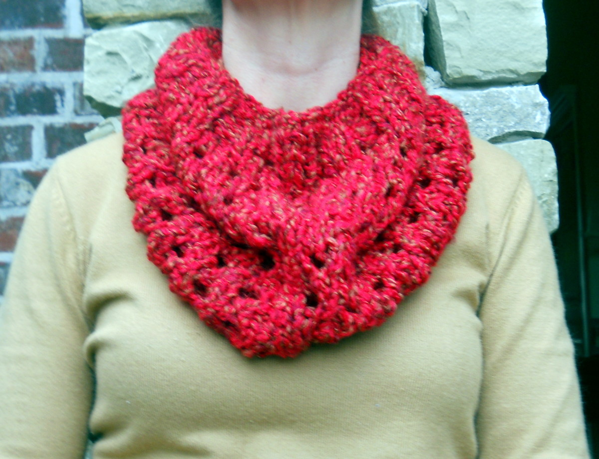 Simple Knit Cowl Pattern : Easy Knitted Cowl Pattern