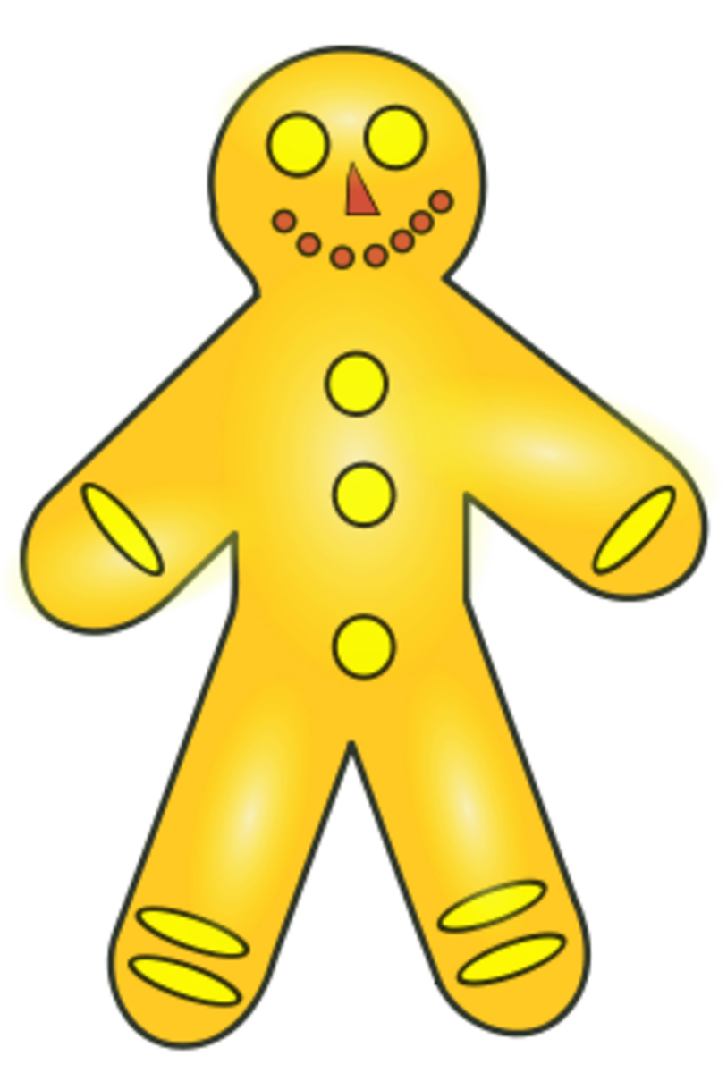 Use a cookie cutter shaped like a gingerbread man to cut the craft templates.