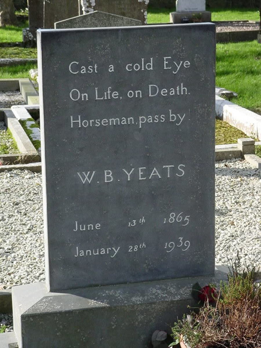 Grave marker of William Butler Yeats at Drumcliffe