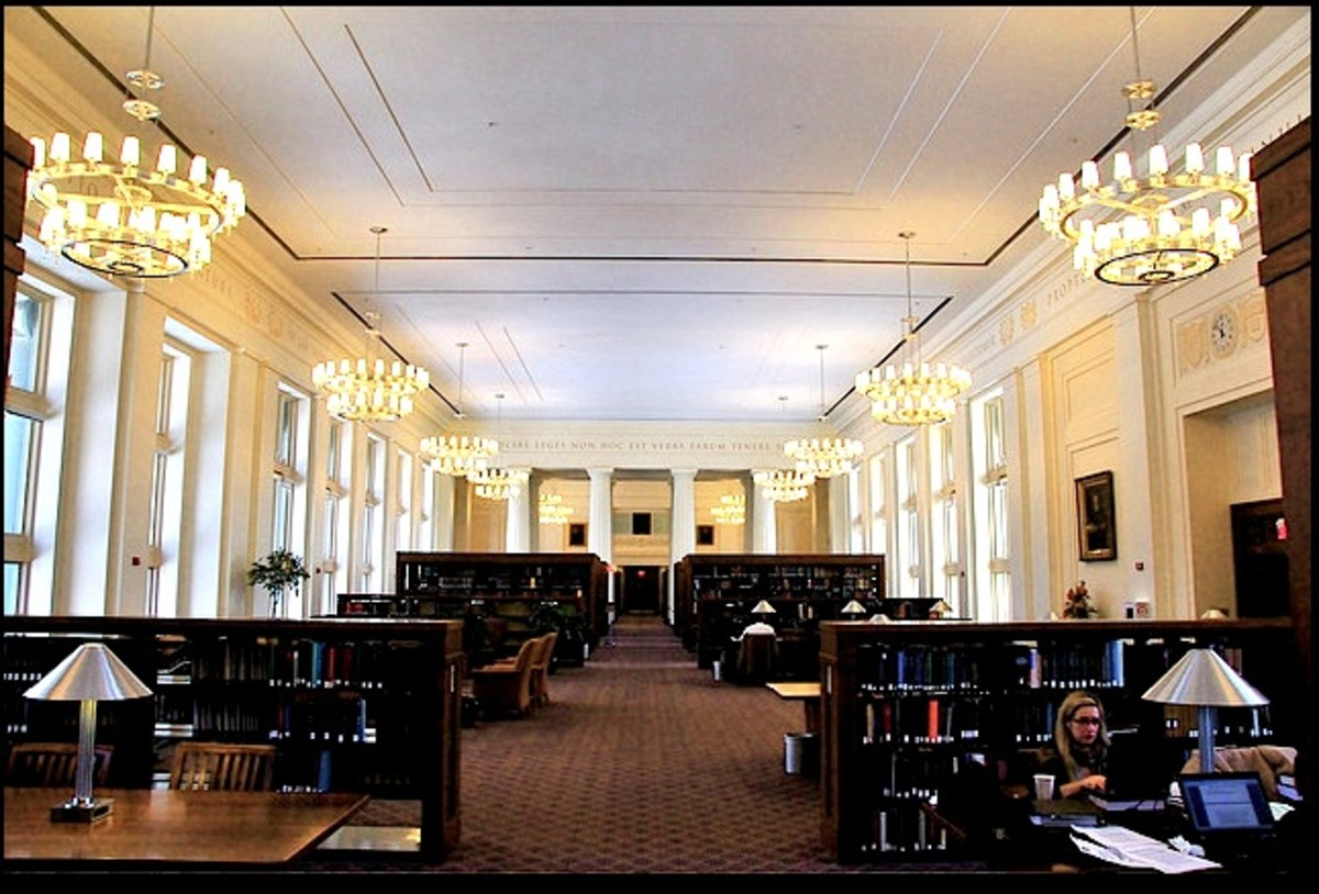 This is the reading room at Harvard Law School.  When I toured that library it was full of students and no photos allowed.
