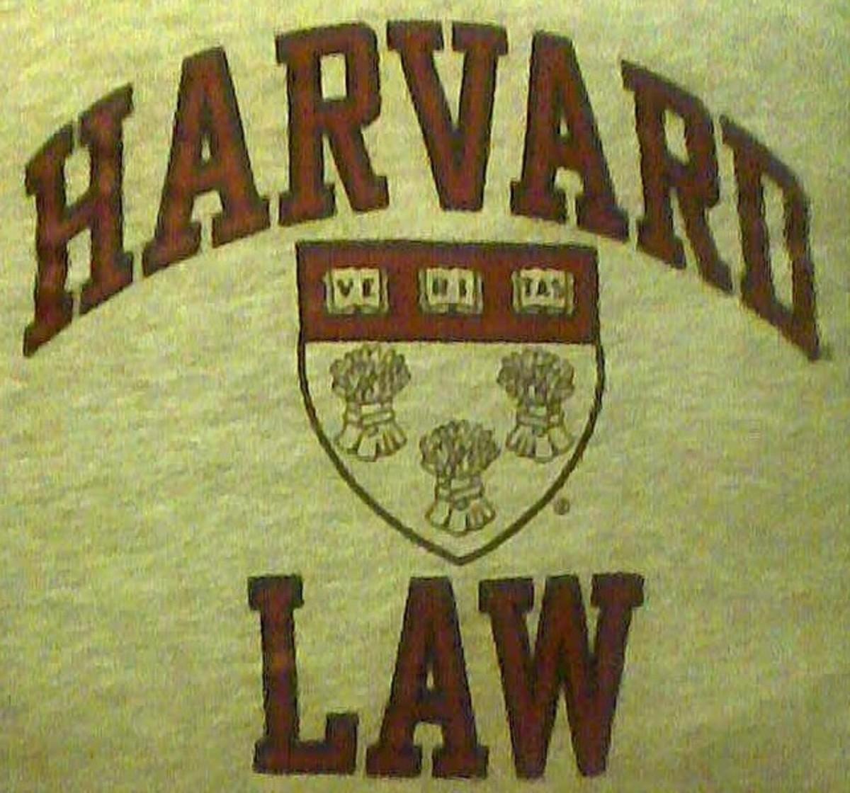 A Harvard Law School T-shirt