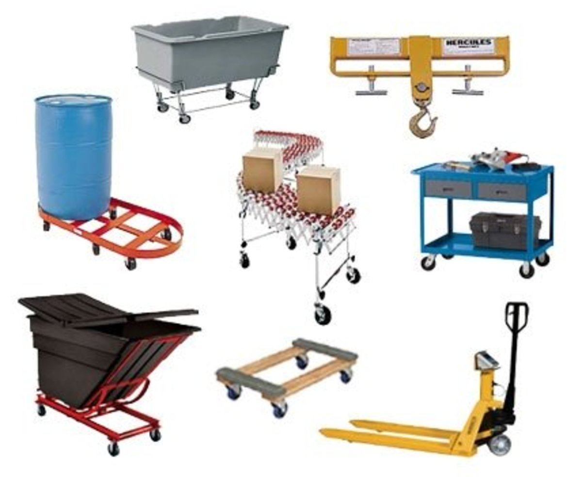 Material handling equipment are used to improve the manual production and laborers' efficiency.