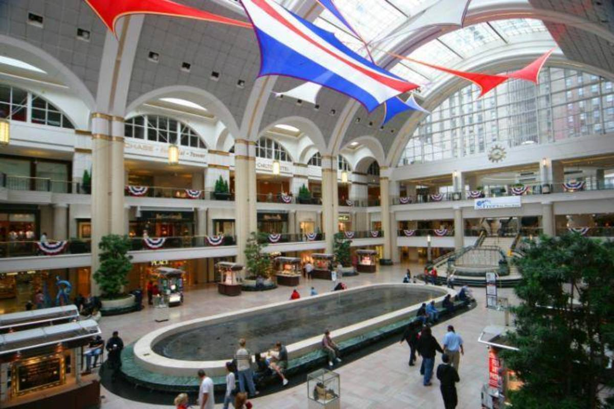 Inside the Cleveland Mall
