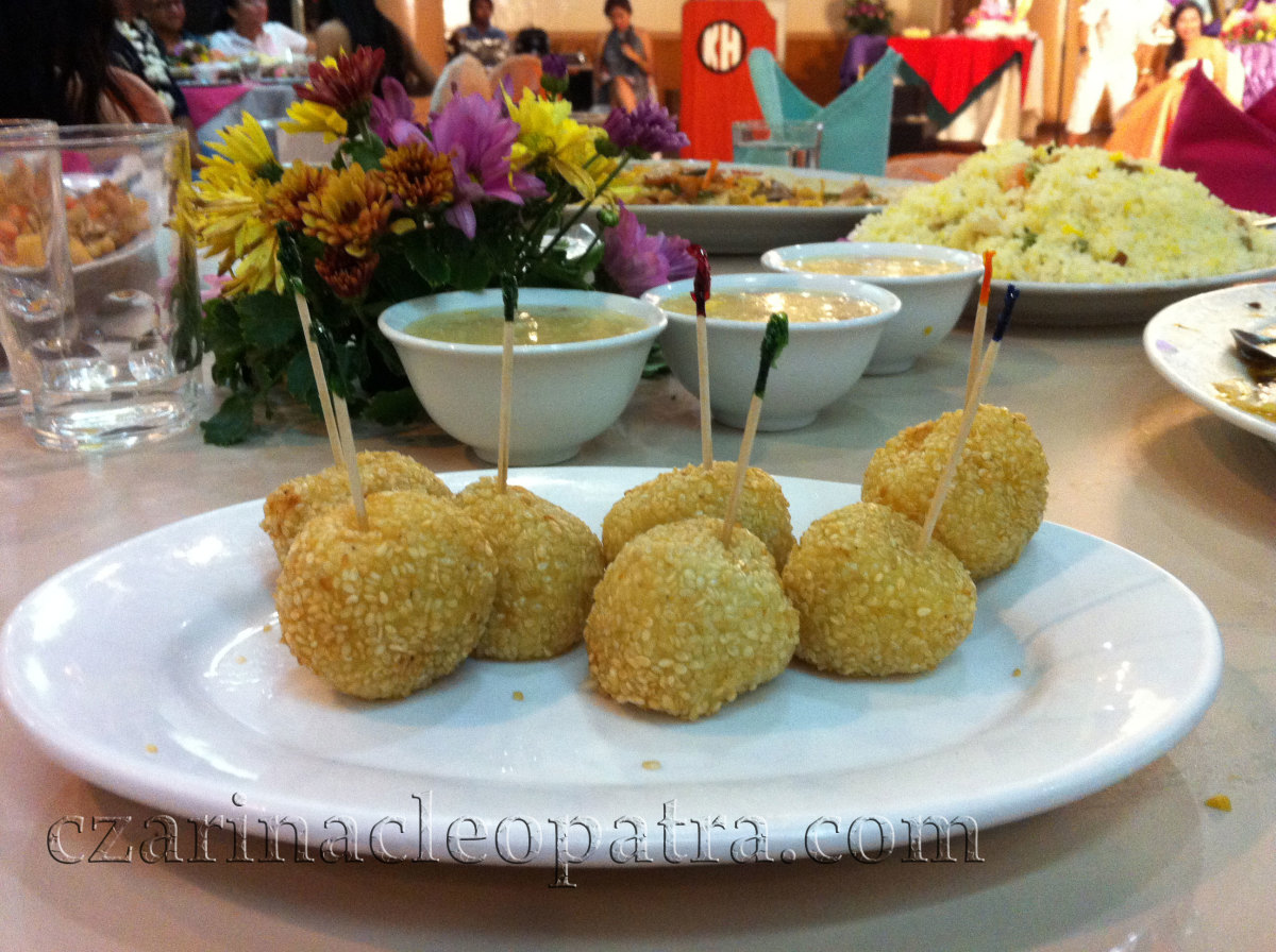 Filipino-Chinese dishes are favored during special occasions - lunch or dinner parties.