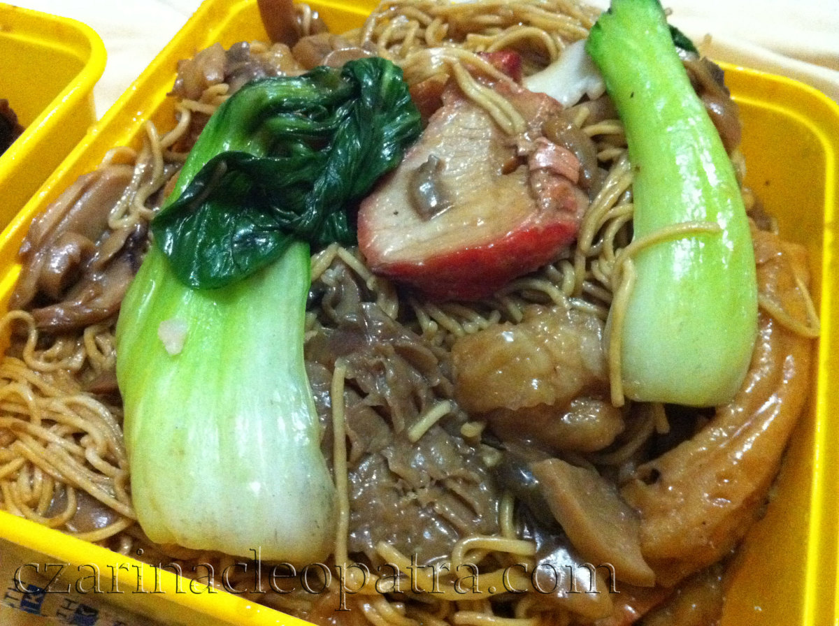 Special Pancit Canton has thicker sauce and heavier with ingredients in meat and veggies.