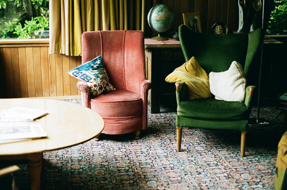 An eclectic style arrangement