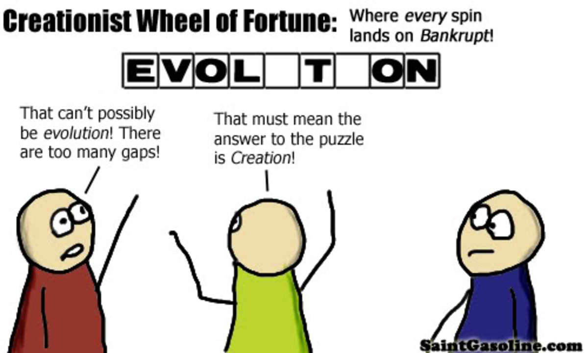 The comical way of explaining the God of Gaps argument!