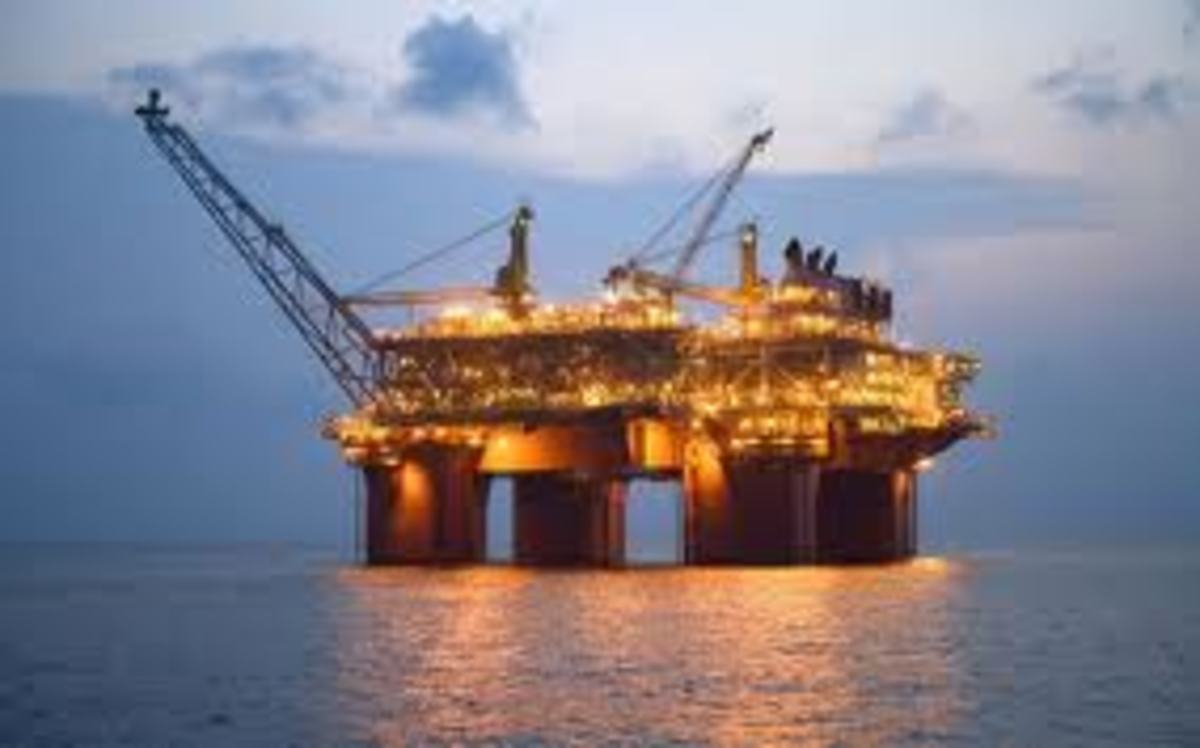 Tension Leg Oil Platform