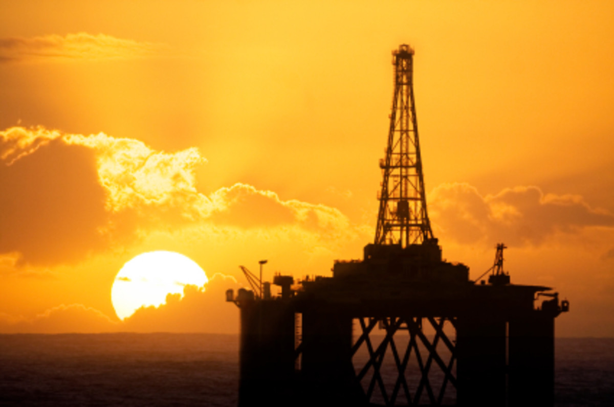 Gravity or Fixed Oil Platform