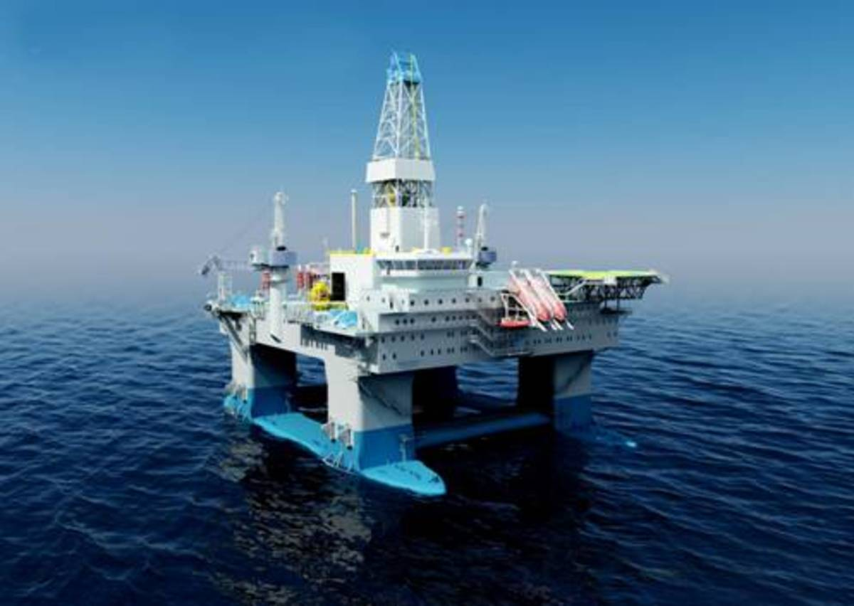 Semi-submersive Oil Platform