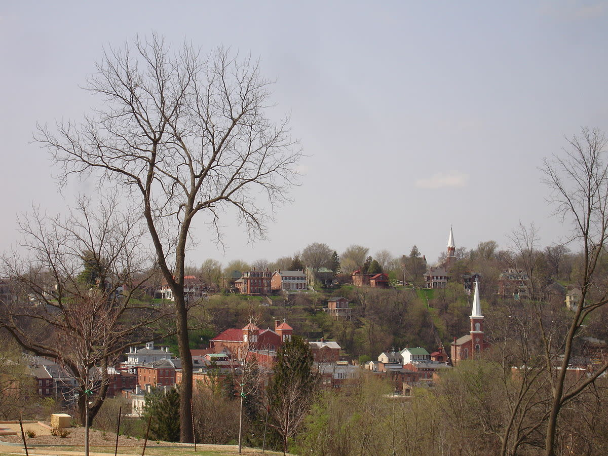 View of Galena Historic District from the Ulysses S. Grant Home, downtown Galena, Illinois, USA. U.S. National Register of Historic Places. View of Galena Historic District from the Ulysses S. Grant Home, downtown Galena, Illinois, USA. U.S. National