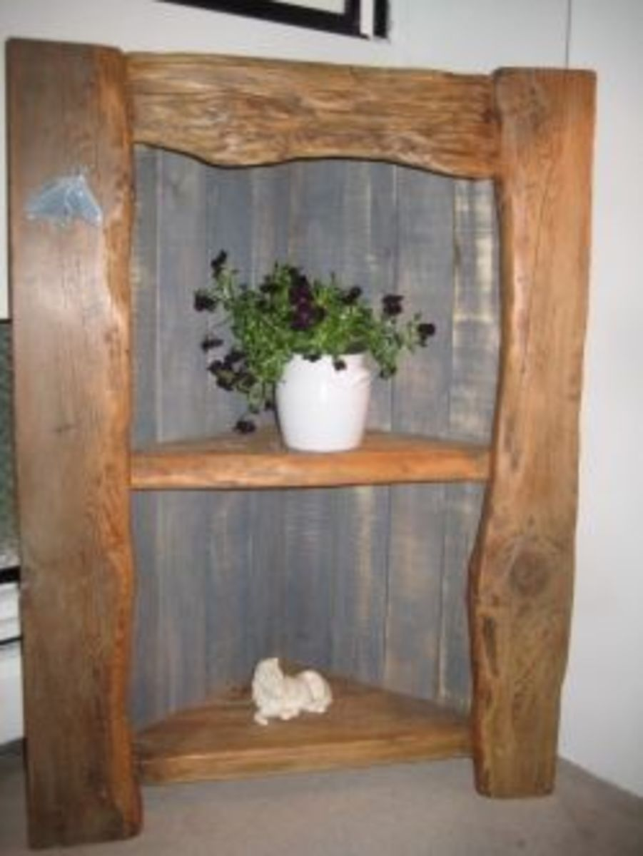 How to Build a Corner Shelf From Reclaimed Wood