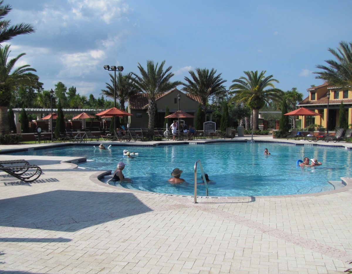 This is the neighborhood pool at the active retirement community where I live. It's a popular place on a hot day.