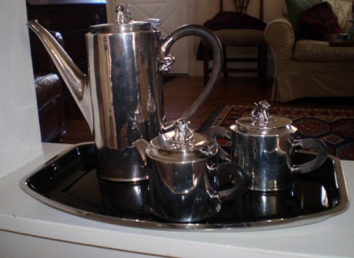 Jaguar Coffee service by Sucessores de Spratling