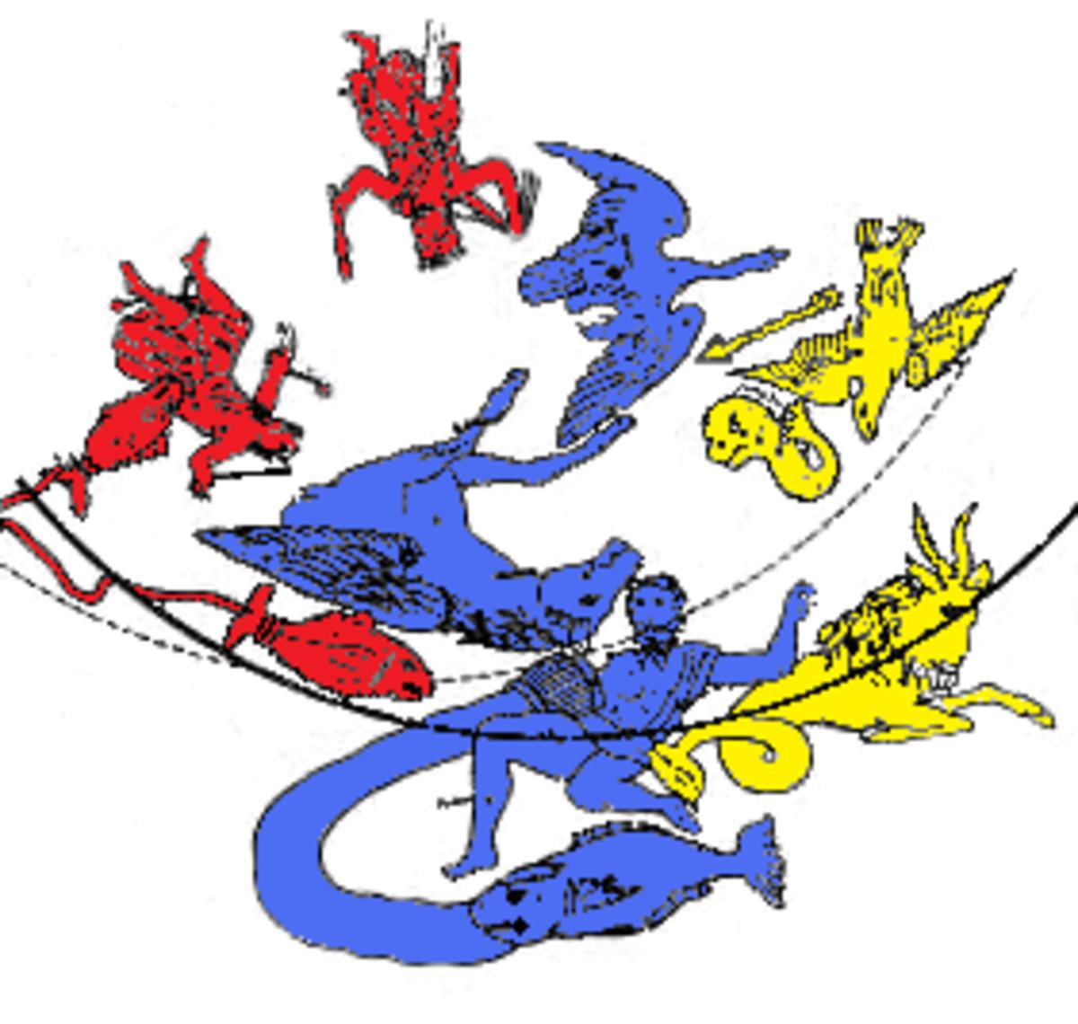The Third Season has the three Zodiac constellations; Pisces, Aquarius, and Capricorn.