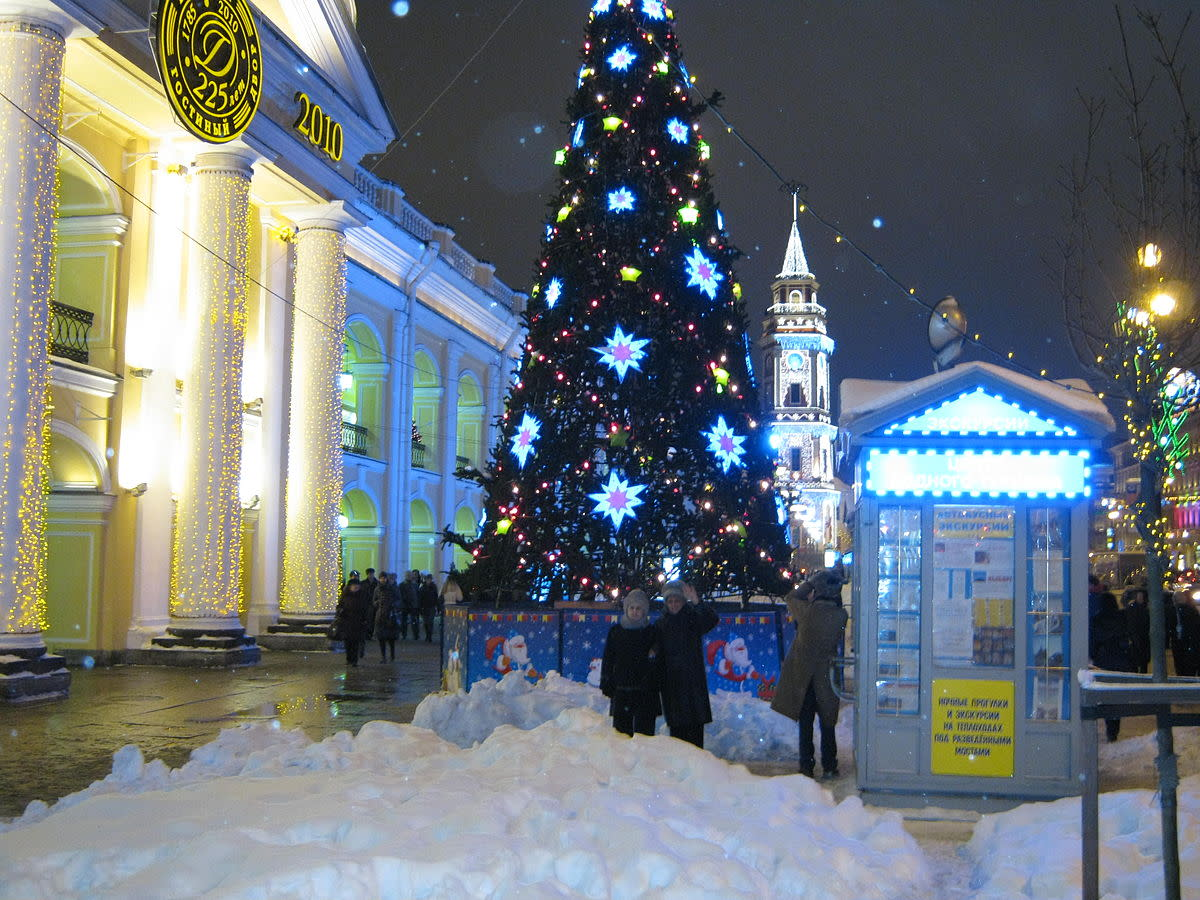 Saint Petersburg (Russia), Gostiny Dvor in New Year