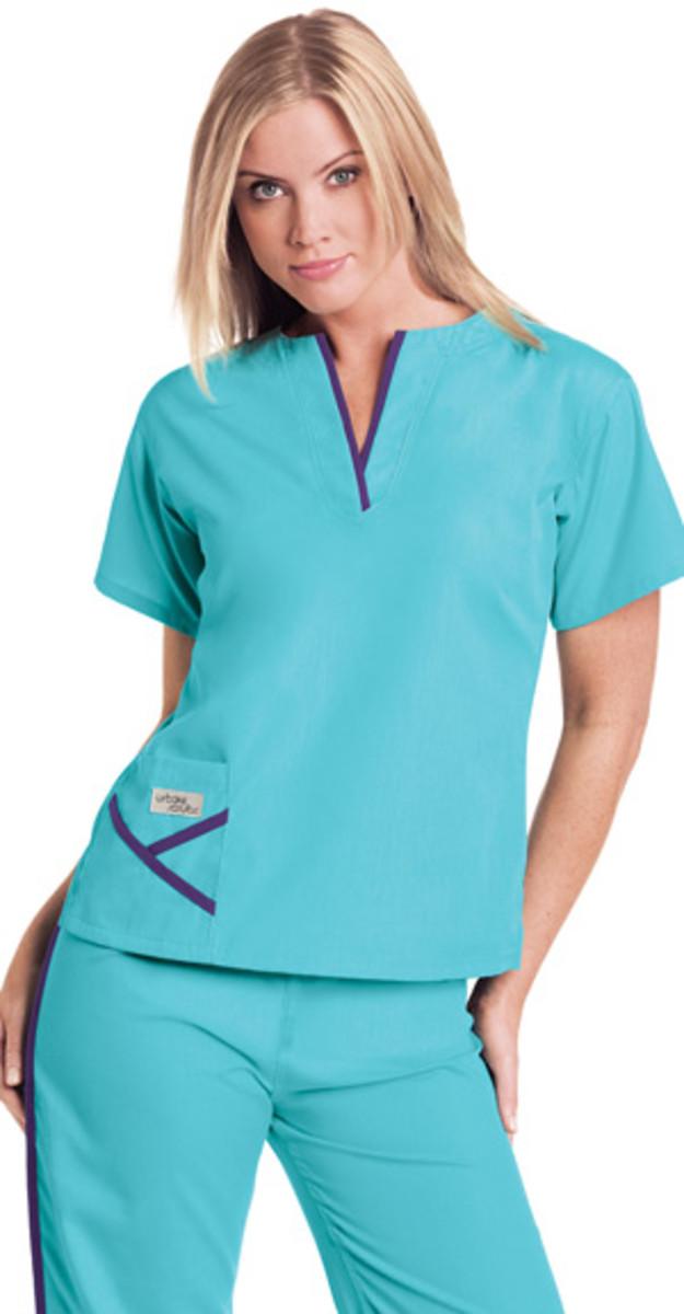 UR-9509 Urbane Scrubs Womens Y-Neck Nurse Scrub Top